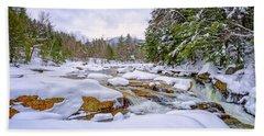 Winter On The Swift River. Bath Towel