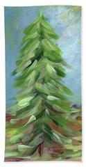 Winter Tree- Expressionist Art By Linda Woods Bath Towel