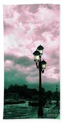 Winter Venice Lantern On The Embankment Hand Towel