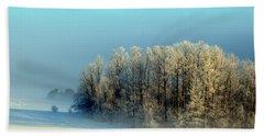 Winter's Heavy Frost Bath Towel