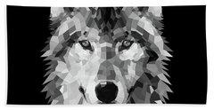 Wolf's Face Bath Towel