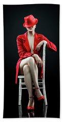 Woman In Red Bath Towel