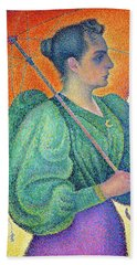 Woman With A Parasol - Digital Remastered Edition Hand Towel