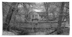 Wooden Bridge Over Stream - Waterloo Village Hand Towel