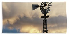 Hand Towel featuring the photograph Wooden Windmill 01 by Rob Graham