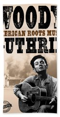 Woody Guthrie American Roots Hand Towel