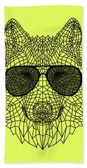 Woolf In Black Glasses Bath Towel