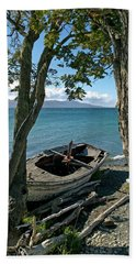 Wrecked Boat Patagonia Bath Towel
