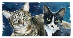 Xani And Zach Cat Painting Hand Towel