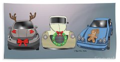 Xmas Cars Hand Towel