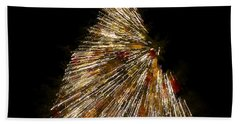 Xmas Tree Motion Art Bath Towel
