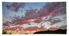 Hand Towel featuring the photograph Y Cactus Sunset  11 by Judy Kennedy