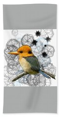 Y Is For Yellow Billed Kingfisher Hand Towel