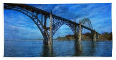 Yaquina Bay Bridge From South Beach Hand Towel