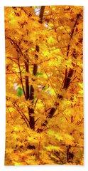 Yellow Autumn Leaves Bath Towel