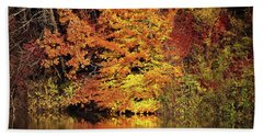 Hand Towel featuring the photograph Yellow Autumn Leaves by Mike Murdock
