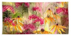 Yellow Ballerinas Hand Towel