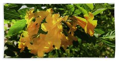 Yellow Bells - Sun And Shade Bath Towel