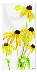 Yellow Black Eyed Susans Hand Towel