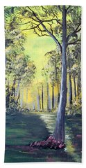 Yellow Forrest Hand Towel