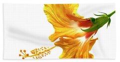 Yellow Hibiscus Hand Towel