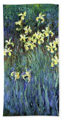 Yellow Irises - Digital Remastered Edition Bath Towel