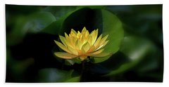 Bath Towel featuring the photograph Yellow Lotus by Patti Whitten