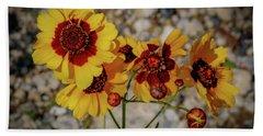 Yellow Wildflowers Hand Towel