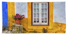 Yellow Window Of Obidos Bath Towel