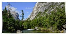 Yosemite Mirror Lake, Lower Pool Bath Towel