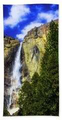 Yosemite Valley Fall In The Clouds Hand Towel