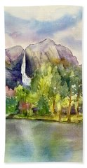 Yosemite Waterfalls Hand Towel