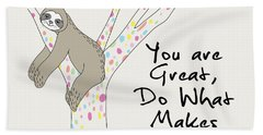 You Are Great Do What Makes Your Soul Shine - Baby Room Nursery Art Poster Print Hand Towel