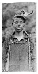 Young Coal Miner - West Virginia - 1908 Hand Towel