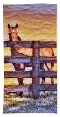 Young Kentucky Thoroughbred Hand Towel