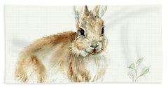 Young Rabbit Bath Towel