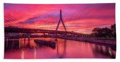 Zakim Bridge Sunset Hand Towel