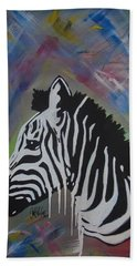 Zebra Drip Hand Towel