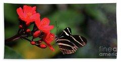 Zebra Longwing Butterfly Hand Towel