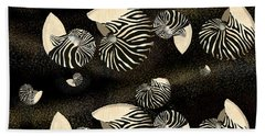 Zebra Pattern Nautilus Shells6 Bath Towel