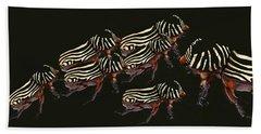 Zebra Pattern Rhinoceros Beetle 3 Hand Towel