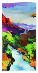 Zion - The Watchman And The Virgin River Hand Towel