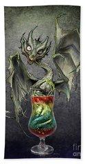 Zombie Dragon Bath Towel