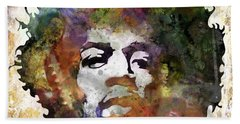 Rock And Roll Jimi Hendrix Music Hand Towels
