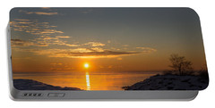 Portable Battery Charger featuring the photograph -15 Degrees Sunrise by Georgia Mizuleva