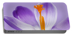 Abstract Purple Crocus Portable Battery Charger