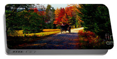 Portable Battery Charger featuring the photograph  Acadia National Park Carriage Trail Fall  by Tom Jelen