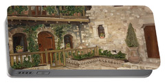 Greek Courtyard - Agiou Stefanou Monastery -balcony Portable Battery Charger