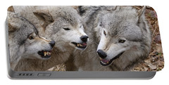 Portable Battery Charger featuring the photograph  Alpha Displeasure 2 by Wolves Only