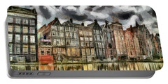 Amsterdam Water Canals Portable Battery Charger by Georgi Dimitrov